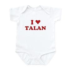 I LOVE TALAN Infant Bodysuit