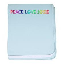 Peace Love Josie baby blanket
