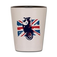 Union Jack Scooter Shot Glass