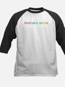 Peace Love Jordyn Baseball Jersey
