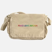 Peace Love Jordon Messenger Bag