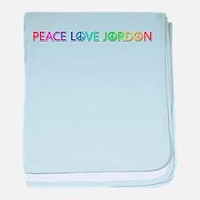 Peace Love Jordon baby blanket