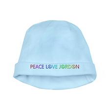 Peace Love Jordon baby hat