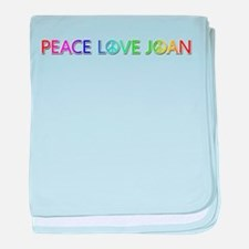 Peace Love Joan baby blanket
