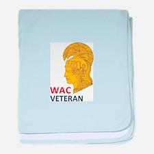 WAC Veteran baby blanket