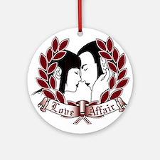 Skinhead Love Affair Round Ornament