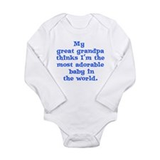 Funny Great grandfather Long Sleeve Infant Bodysuit