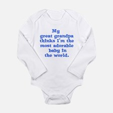 Unique Grandpa Long Sleeve Infant Bodysuit