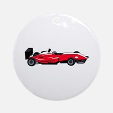 Formula 1 Race Car Round Ornament