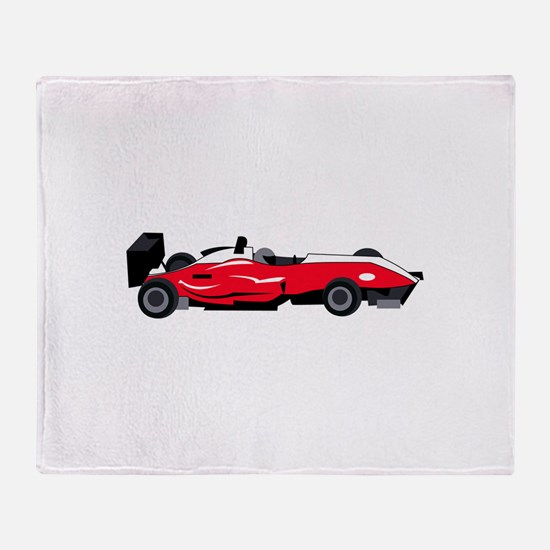 Formula 1 Race Car Throw Blanket