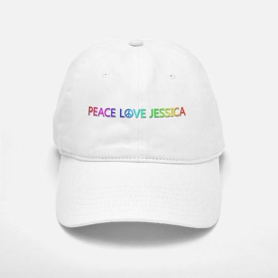 Peace Love Jessica Baseball Cap