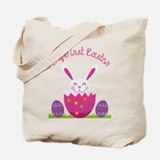 Girl's First Easter Tote Bag