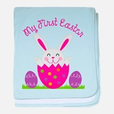 Girl's First Easter baby blanket
