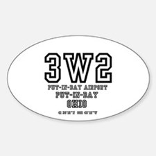 AIRPORT CODES - 3W2 - PUT I Decal