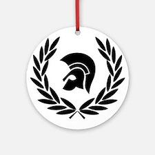 Trojan Laurel Leaf Round Ornament