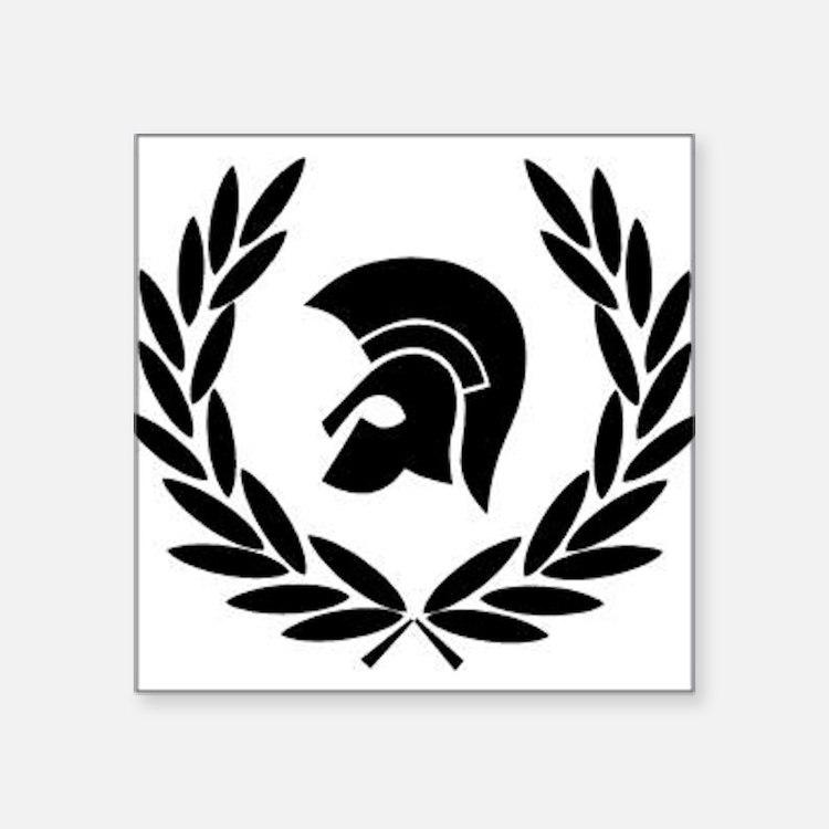 Trojan Laurel Leaf Sticker
