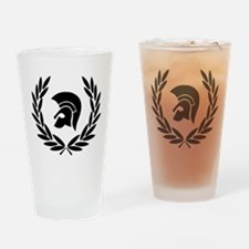 Trojan Laurel Leaf Drinking Glass