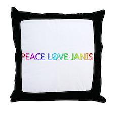 Peace Love Janis Throw Pillow