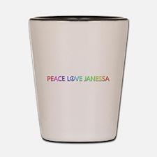 Peace Love Janessa Shot Glass