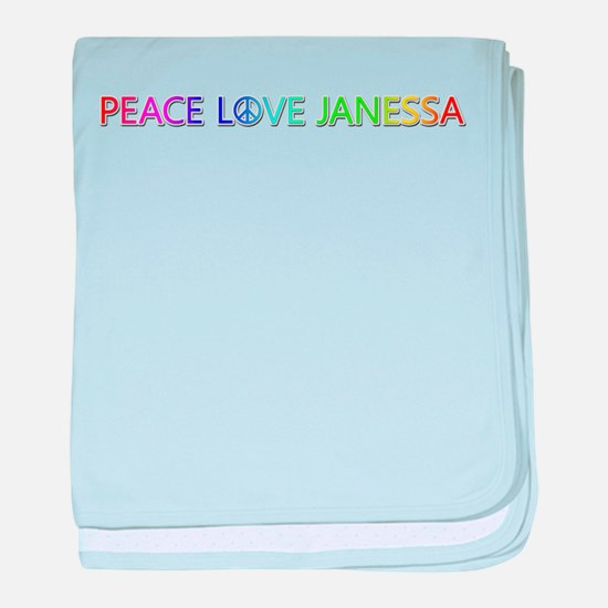 Peace Love Janessa baby blanket