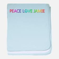 Peace Love Jamie baby blanket