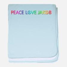 Peace Love Jakob baby blanket