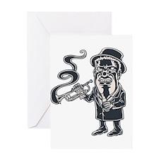 Cool Jazz music art Greeting Card