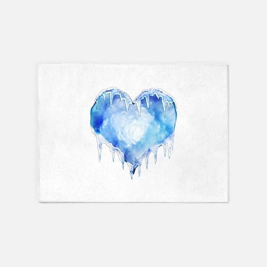 2-iceheart.jpg 5'x7'Area Rug