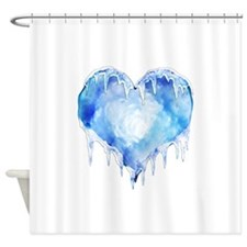 2-iceheart.jpg Shower Curtain