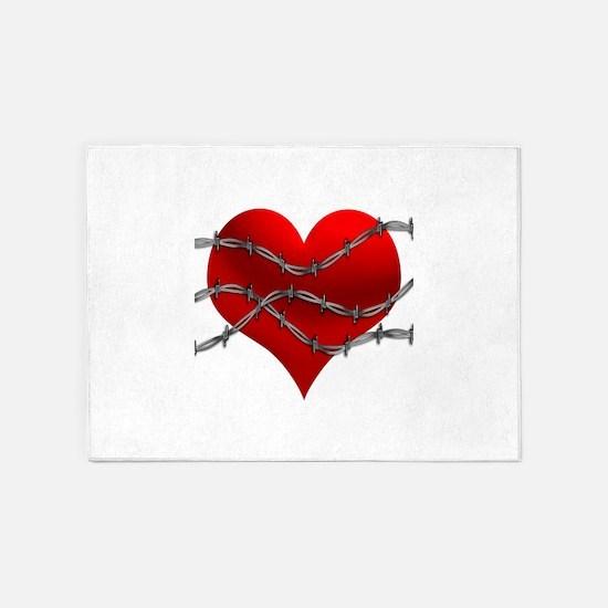 3-Heart-barbed-01.jpg 5'x7'Area Rug