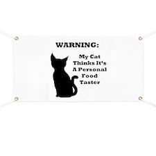 Warning Cat Banner