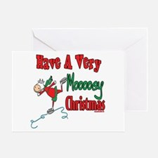 Moooey Christmas Cows Greeting Card