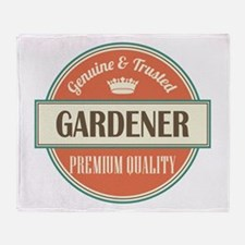 gardener vintage logo Throw Blanket