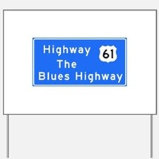 The Blues Highway 61, TN & MS Yard Sign