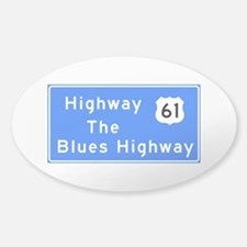 The Blues Highway 61, TN & MS Bumper Stickers