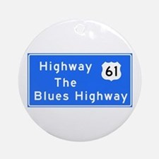 The Blues Highway 61, TN & MS Round Ornament