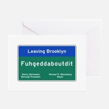 Fuhgeddaboudit, Brooklyn Greeting Cards (Pk of 10)