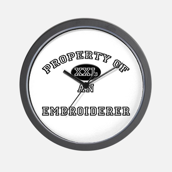 Property of an Embroiderer Wall Clock