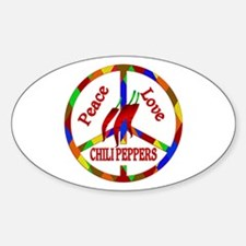 Peace Love Chili Peppers Decal