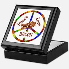 Peace Love Bacon Keepsake Box