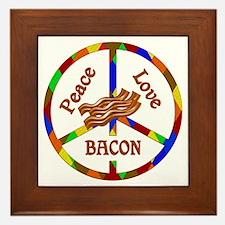 Peace Love Bacon Framed Tile