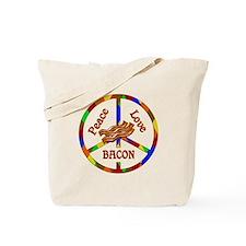 Peace Love Bacon Tote Bag