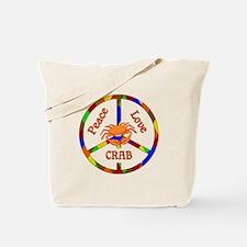 Peace Love Crab Tote Bag