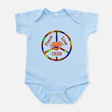 Peace Love Crab Infant Bodysuit