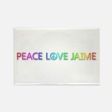 Peace Love Jaime Rectangle Magnet