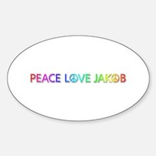 Peace Love Jakob Oval Decal
