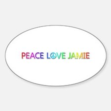 Peace Love Jamie Oval Decal