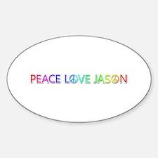Peace Love Jason Oval Decal