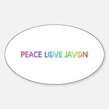 Peace Love Javon Oval Decal