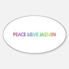 Peace Love Jazmin Oval Decal